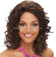 Elegant-wig natural cheap hair wig, human hair short curly wigs for black women hand tied