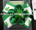 St. Patrick's Day Bows old fashion hair clip design