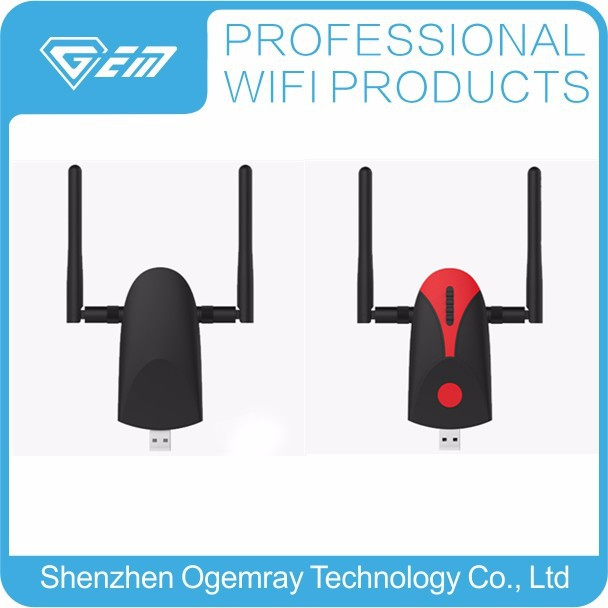 USB protable wifi repeater,2 antennas wifi booster signal amplifier