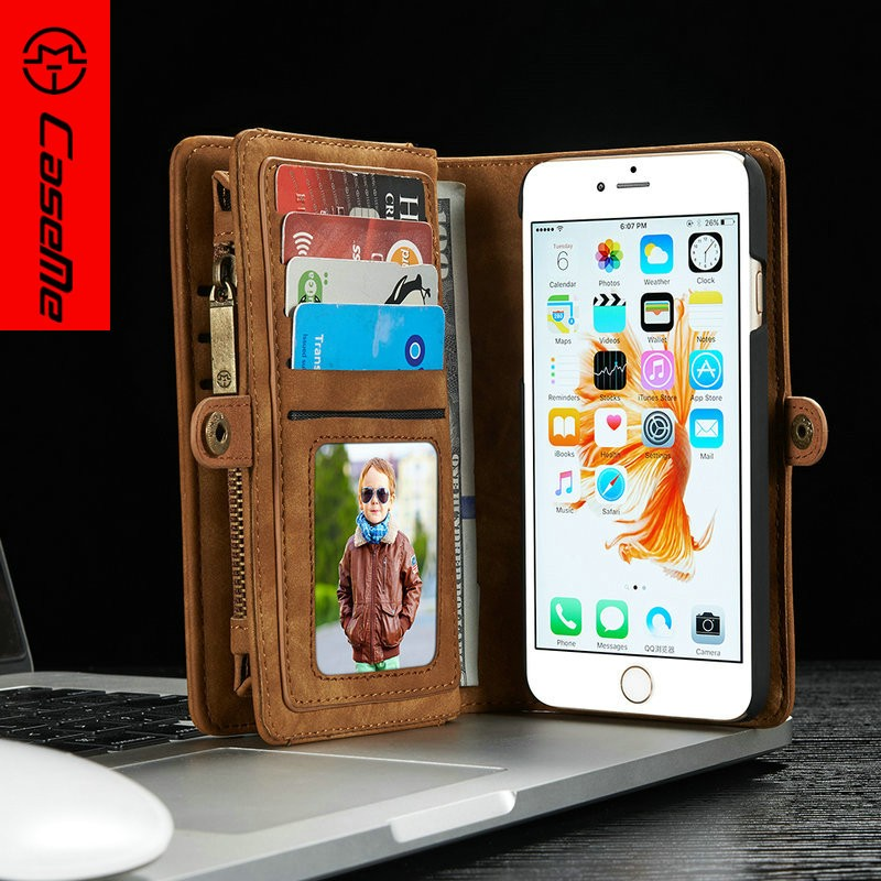 Wallet leather flip case for iPhone 6s with credit card kickstand phone case