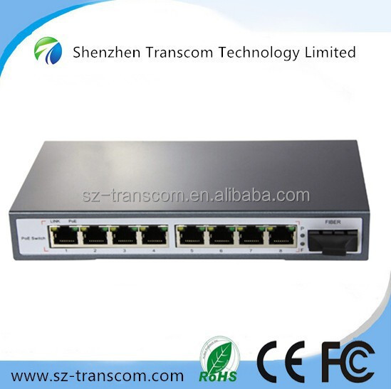 10/100M network switch 8 port with poe support /8 port 10/100M fiber poe switch /ethernet switch