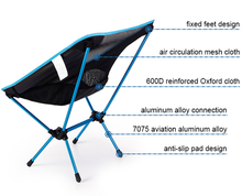 Portable Barbecue Fishing tool of Super light Breathable Backrest Folding Chair