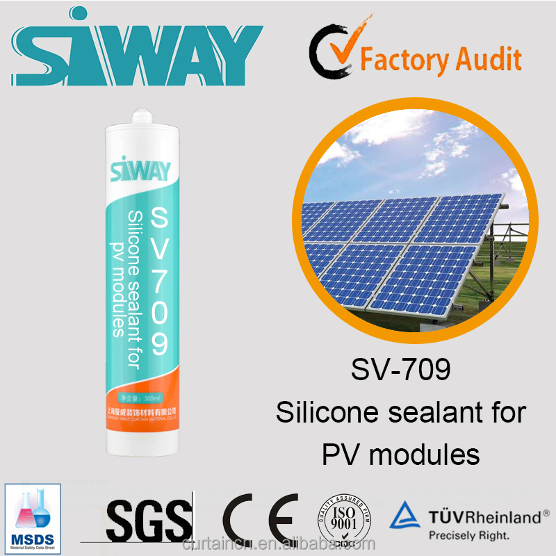 Stainless Steel Pipe Solar Panel Silicone Sealant in White Color