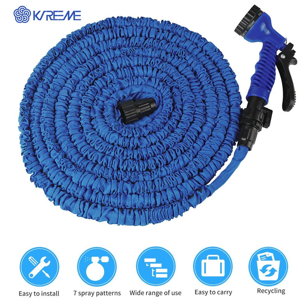 50ft Garden Hose Pipe Water Sprayer Hose Expandable Flexible with 2PCS Connector