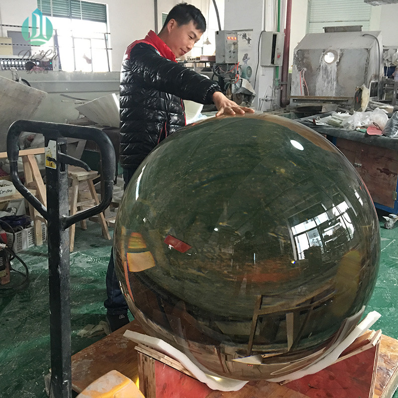 Chinese Suppliers customize100cm 200cm 300mm 500mm crystal ballsuper large glass balls transparent big large crystal ball 1000mm
