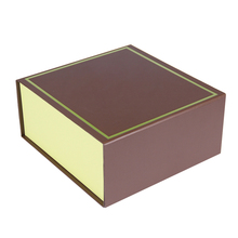 Fancy brown flip top 10x10 gift folding paper boxes with magnetic closure