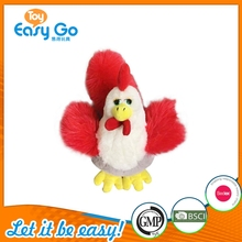 Promotional Plush Animal Cock Toy Lifelike Chicken China Factory Price