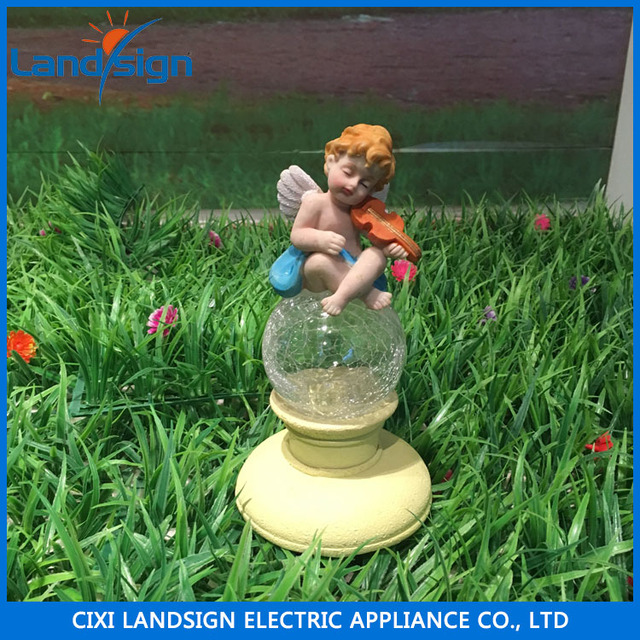 2016 taobao cixi fairy garden solar statues concrete sculptures outdoor decor resin lawn yard patio ornament