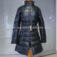 2015 Womens Latest Design Full Length Leather Coats