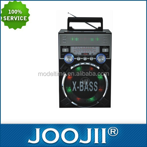 New Portable World band Radio receiver with disco light