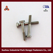 M8 Bolt Head Size In Metric With Allen Shape Half Thread DIN931Stainless Steel In China