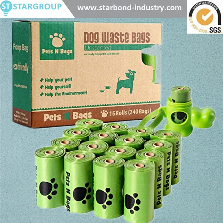 Pet items biodegradable plastic dog poop waste bag on roll