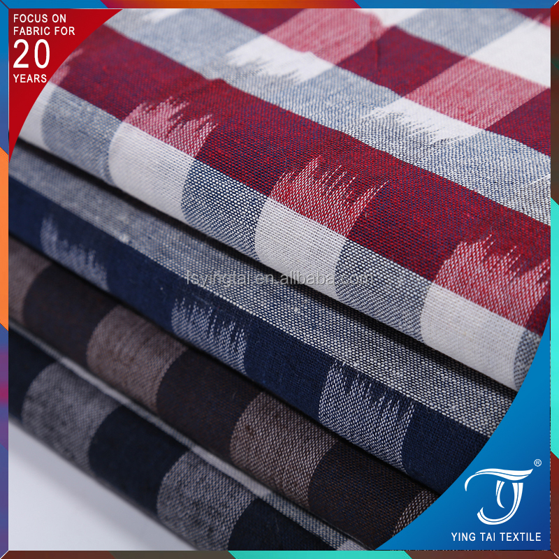 Large stocks cotton fabric cotton stripe shirting fabric for garment