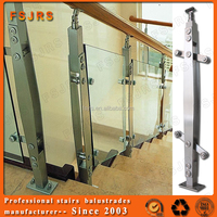 Hot sale china suppliers removable flexible handrail with glass