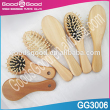 baby wooden hair brush and comb set