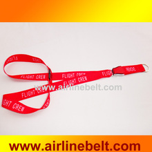 Top classice airline airplane aircraft seatbelt buckle nylon lanyard