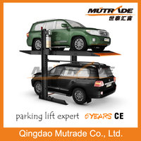 low cost 2 post double floor used carports for sale