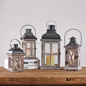 Wedding Decoration for candle holder wooden vintage lantern