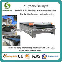 SM1625 Hot sales auto feeding applique textile laser cut machine