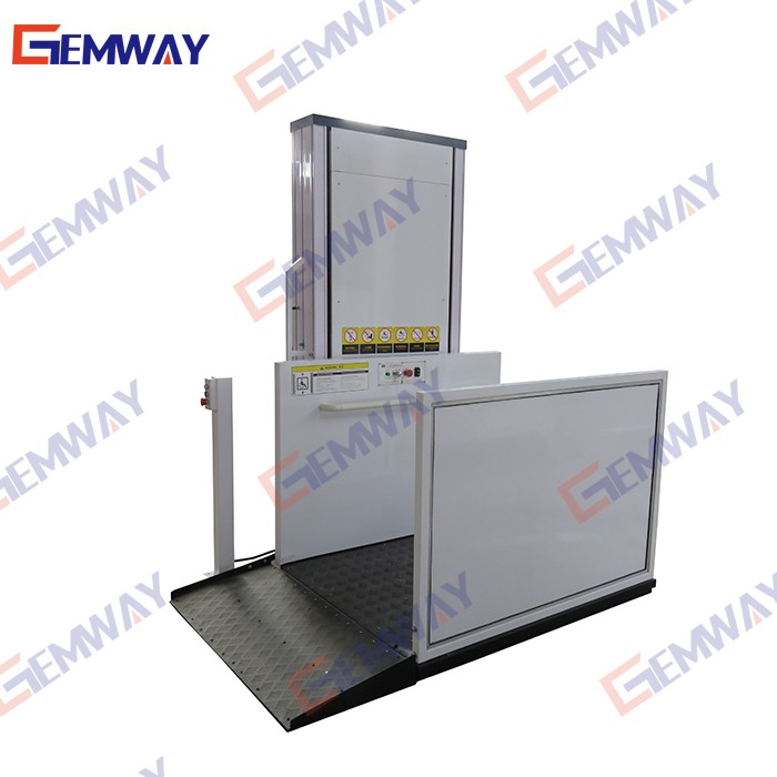 2m Hydraulic one man wheelchair elevator lift
