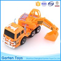 Most popular children mini light music plastic toy battery operated excavator