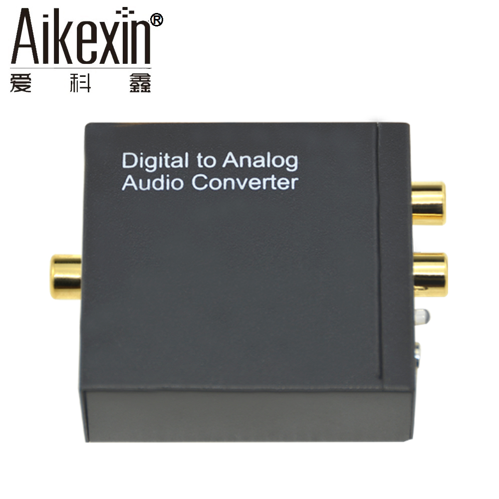 DAC Digital SPDIF Toslink to Analog Stereo Audio <strong>R</strong>/L <strong>3</strong>.5mm Converter Adapter with Optical Cable