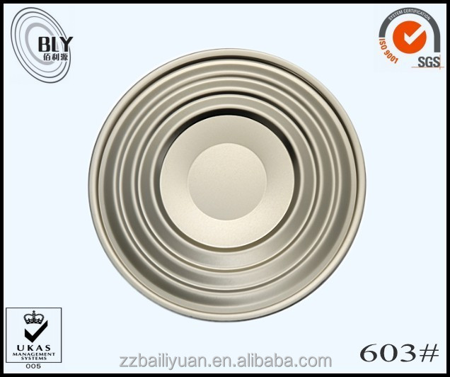 super quality food grade 603 metal paint cans lids