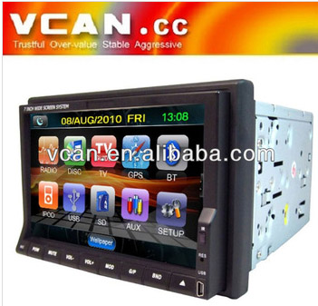 2 din car dvd player gps rear view camera Build-in TV modes Bluetooth and touch screen VCAN0771