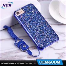 New design glitter phone case for iphone 6 7, custom hybrid tpu pc combo case for iphone 8