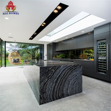 Hot Sale Affordable Modern MDF/HDF Kitchen Cabinet Designs Free Standing Pantry Lacquer Black Kitchen Cabinets