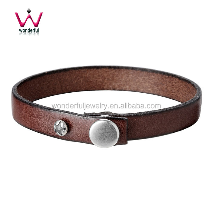 2016 Fashion Handmade Real Brown Leather Wristbands & leather Bracelet