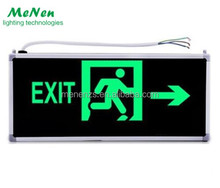 LED Exit Sign Light Rechargeable Emergency Exit Lights LED fire safety exit signs