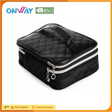 Fashion model quilted layer beauty case cosmetic for ladies