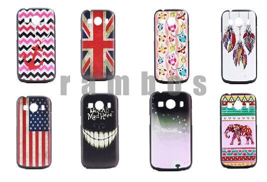Trendy Stylish Print Case Cover Hard Plastic Mobile Phone Covers for Samsung Galaxy S4 S5 Note 4 S4 mini