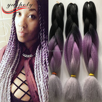 wholesale 100g three colored jumbo braid hair african synthetic hair for braiding