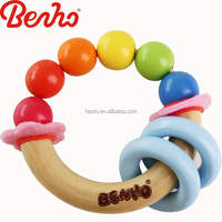 Colorful kids clutching wooden beads toy wholesale