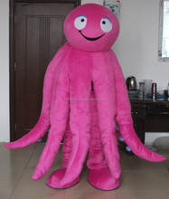 Quality plush finished octopus mascot costume adult octopus mascot