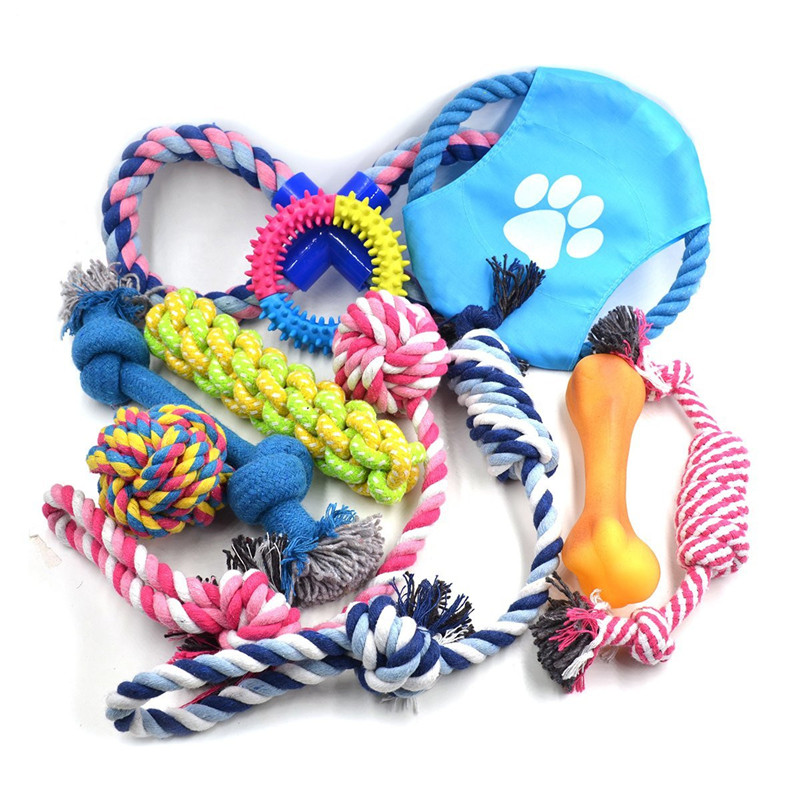 Fashion new products durable fabric pet play dog toy set