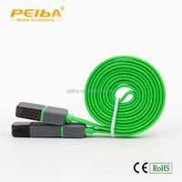 High Quality 2 in 1 Cell Phone Charger Cable Flat Mico USB Data Cable For All Mobile Phones