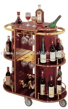 Wooden wine trolley C-31A