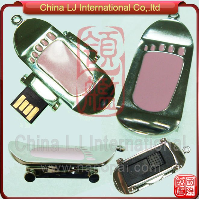 sports promotional gift metal skateboard usb flash memory