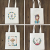 OEM Wholesale Custom Printed Reusable folding shopping canvas cotton bag tote bag