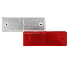 Red white vehicle plastic warning reflector