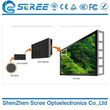 Cost price giant outdoor p8 full color steel projection led display screen 3 in 1