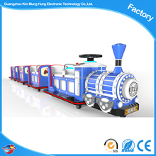 Amusement park electric trackless train for kids ride in the playground