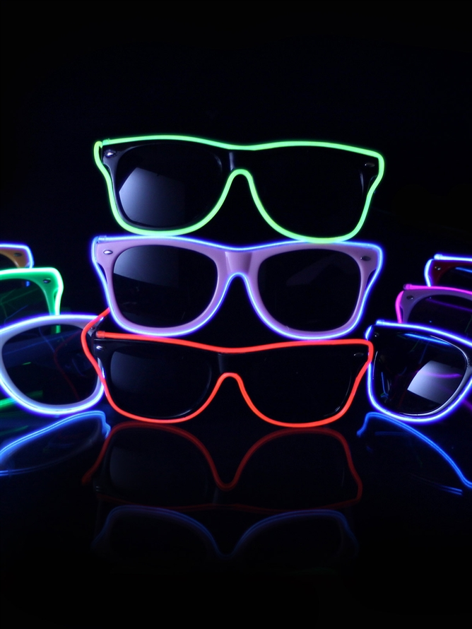 new products 2016 new year glasses, shaped 2016 light up sunglasses, anniversary led sunglasses