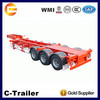 3axle used 40ft container chassis trailer