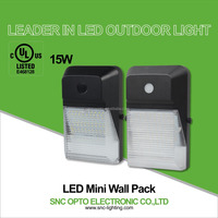 SNC 15w led mini wall pack light IP65 waterproof rating for outdoor