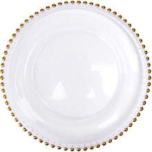 glass beaded charger dinner <strong>plate</strong>