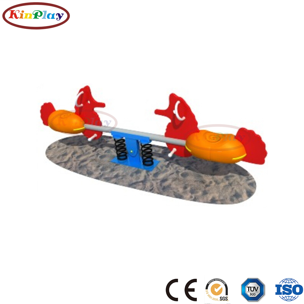 KINPLAY brand high quality factory price kids plastic seesaw outdoor playground equipment seesaw